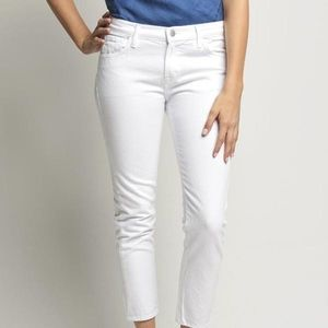 J Brand White Cropped Low-Rise Jeans NWT  $178